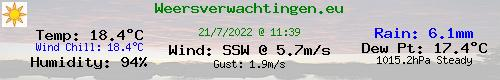 Current Weather Conditions in Nieuwendam, the Netherlands (klik hieronder voor de taal)